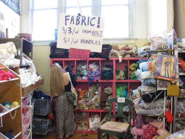 Fabric at the East Bay Depot