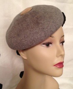 Vintage wool beret from the Vintage Hat Shop