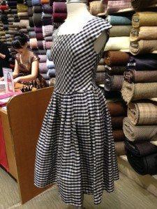 '50s dress from BurdaStyle Sewing Vintage Modern on display at the book launch party at Britex Fabrics in San Francisco (photo by Chuleenan Svetvilas)