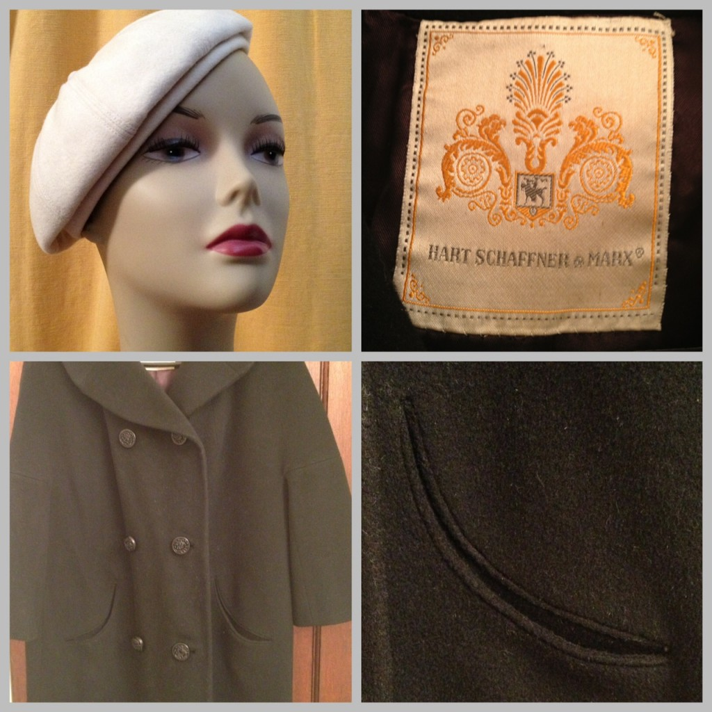 Vintage hat and coat from All Things Vintage in Oakland