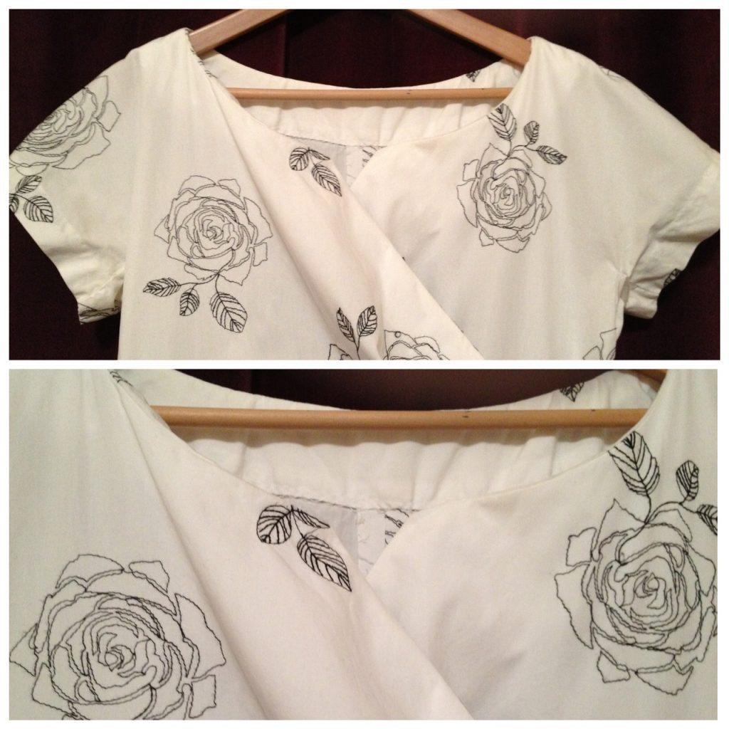 White dress - flannel interfacing