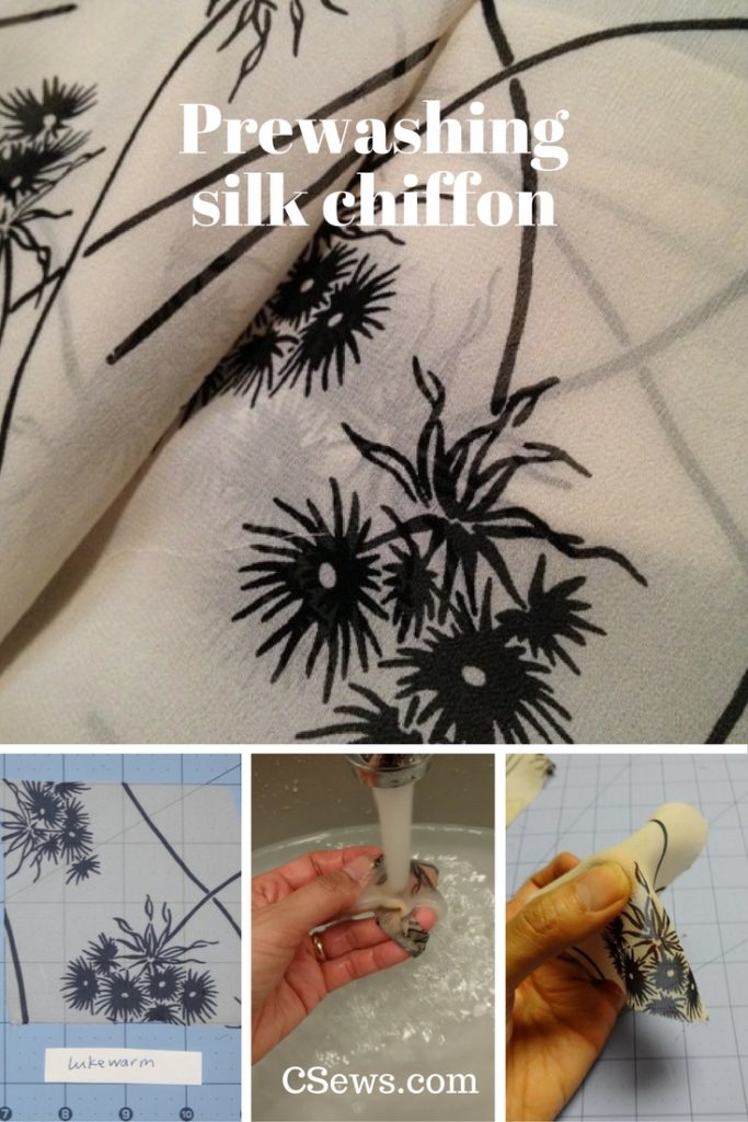 Test results from prewashing silk chiffon in cold and lukewarm water - CSews.com