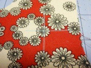 Mark center of fabric