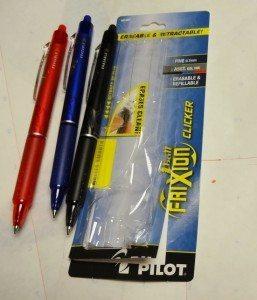 My Pilot Frixion Clicker Eraseable Pens
