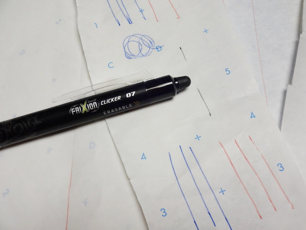 """The """"eraser"""" is the tip on the end of the pen."""