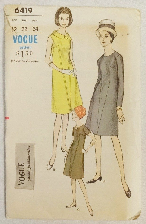 Vogue 6419 dress (no date but looks very '60s)