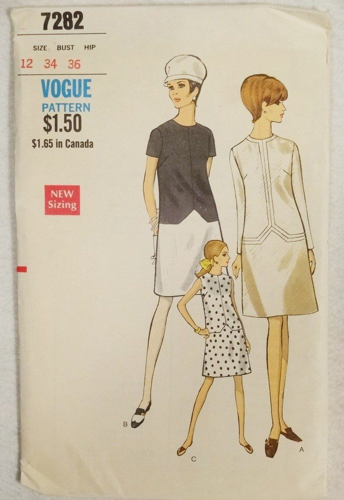 Vogue 7282 dress pattern (no copyright date, 1960s)