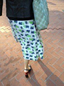 Elephants print skirt