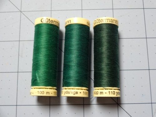 Three green Gutterman threads