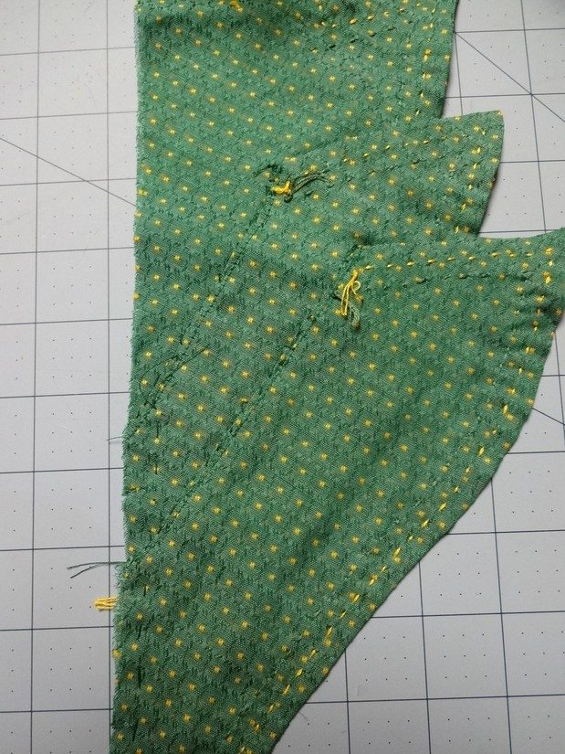 3 collars hand stitched together