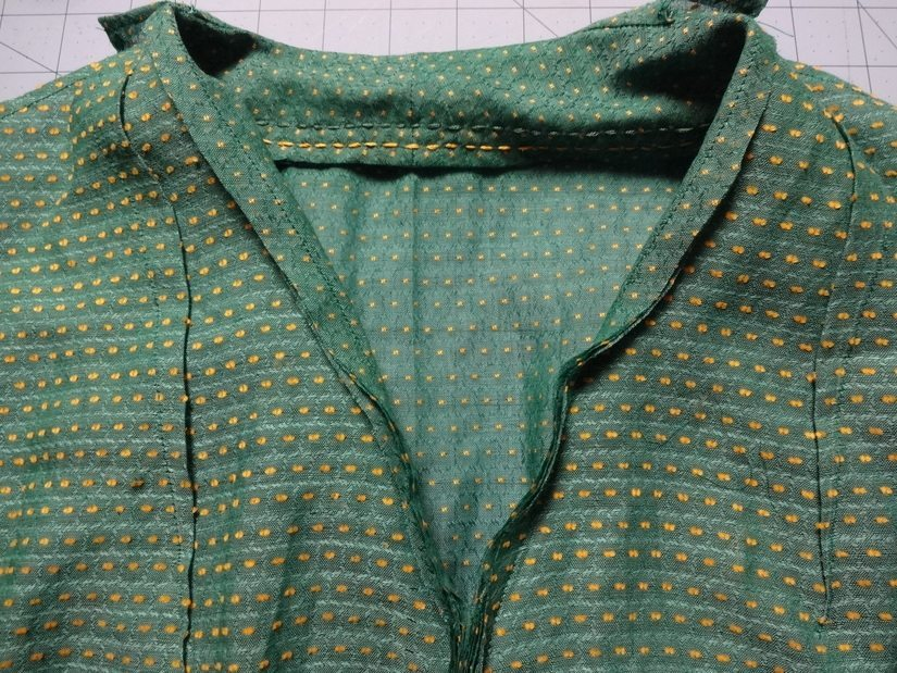 Collar sewn on Girl Friday Blouse