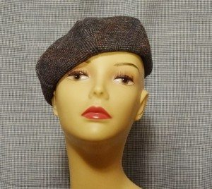 Cute wool beret on mannequin head