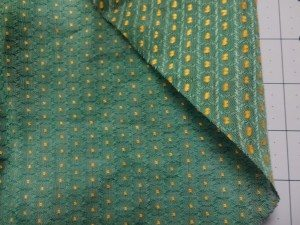 Vintage fabric  Swiss dot voile detail - front and back