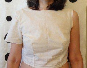 Muslin 1 of Emery Dress bodice