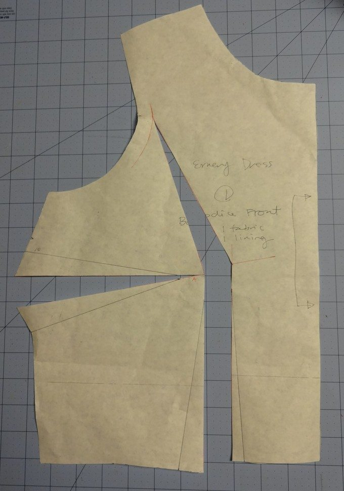 Emery Dress - small bust adjustment