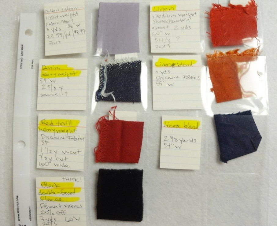 Solid fabric swatches - csews.com