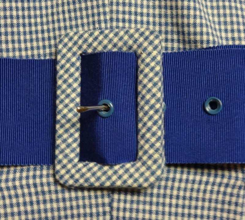 fabriccovered belt buckle � c sews