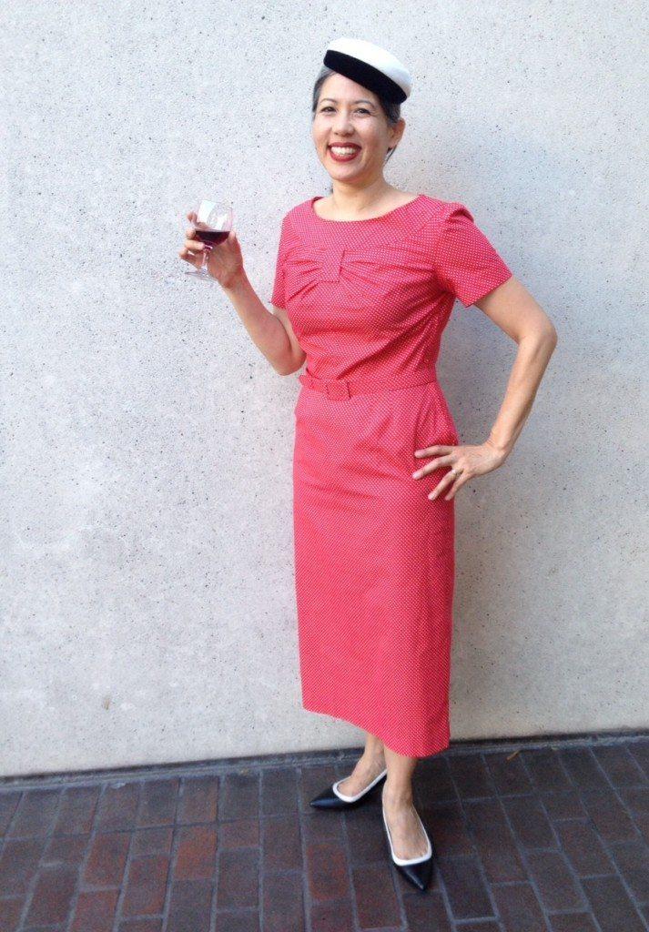 Me Made May 2014 - red dress - vintage pattern - csews.com