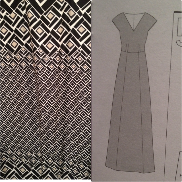 Using a border print fabric in a dress - Anna Dress - By Hand London
