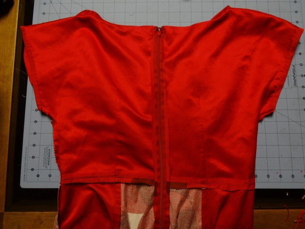Anna Dress - Back view lining - By Hand London - csews.com