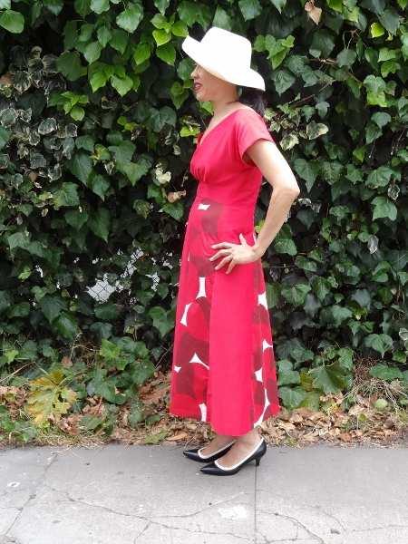 Red Anna Dress - left - By Hand London - csews.com