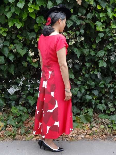 Red Anna Dress - right side - By Hand London - csews.com