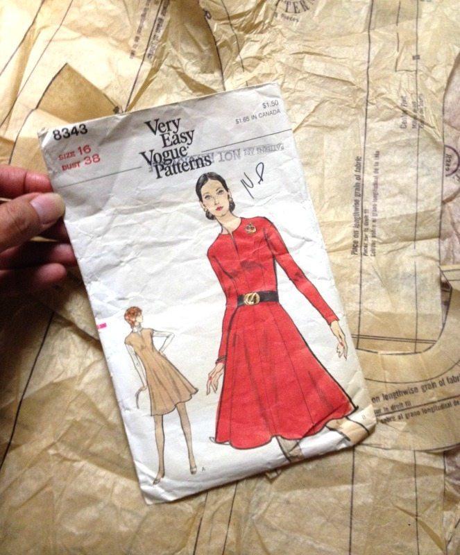 Vintage Vogue 8343 dress patter - csews.com