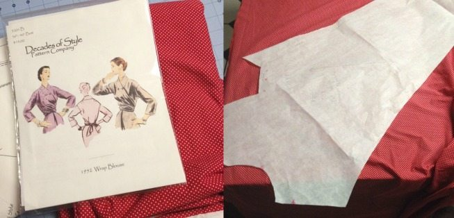 WIPs: 1952 Wrap Blouse and Vintage Vogue Pattern