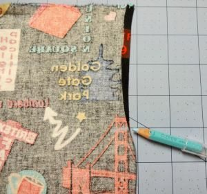 How to make a drawstring bag - Marking top fold - drawstring bag - csews.com