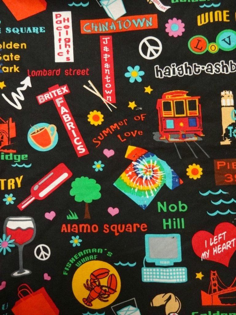 I left my heart in San Francisco fabric - Britex Fabrics - csews.com