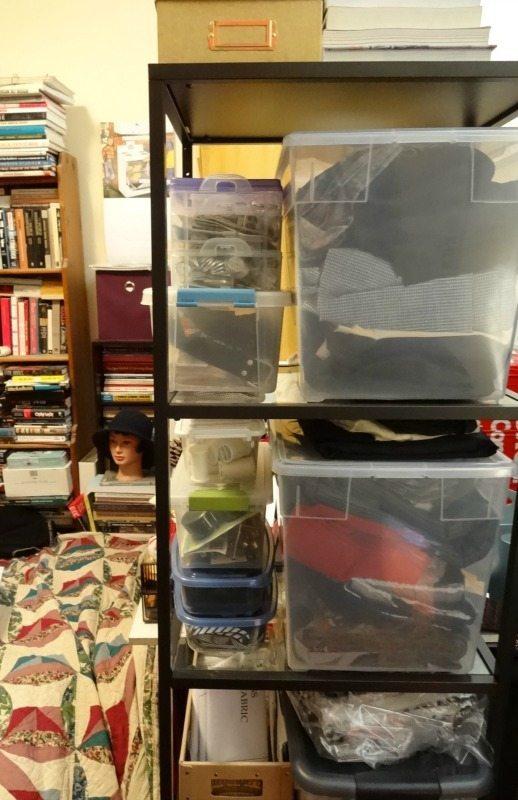 Sewing storage - Ikea shelf
