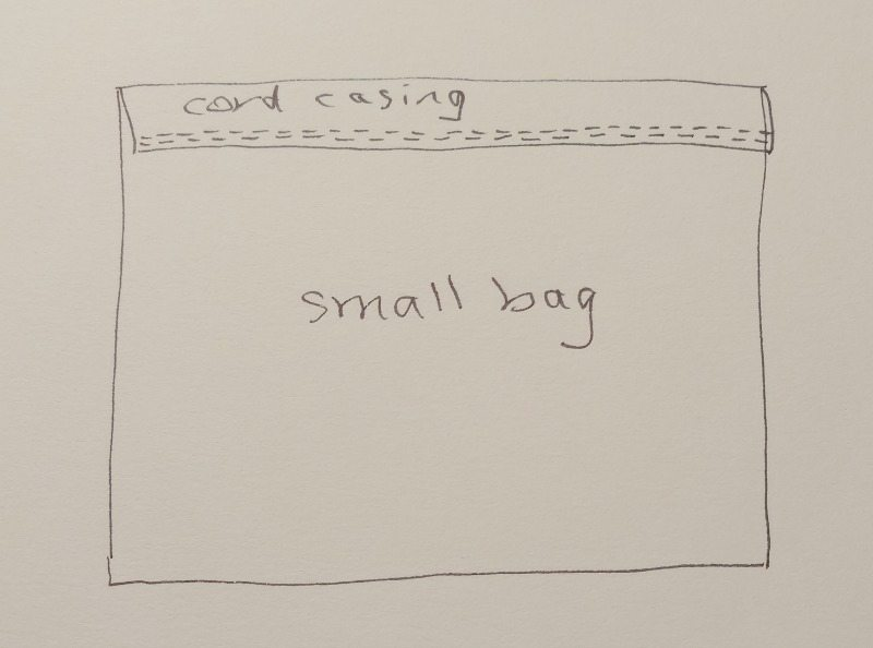 Sketch - small drawstring bag - csews.com