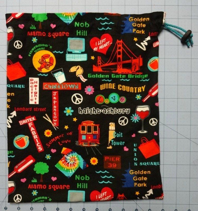 Tutorial: how to make a drawstring shoe bag - finished bag - DIY - csews.com