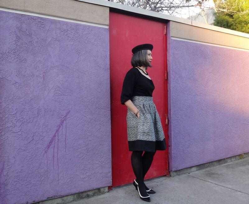 Chardon skirt - side - Deer and Doe pattern - csews.com