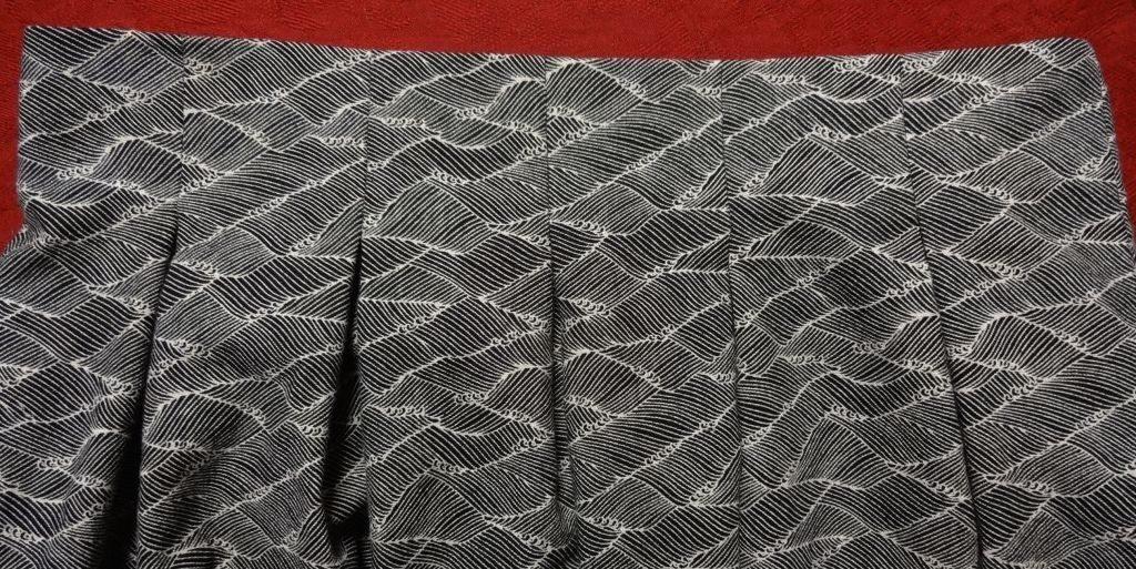 Chardon skirt - front pleat detail - Deer and Doe pattern - csews.com