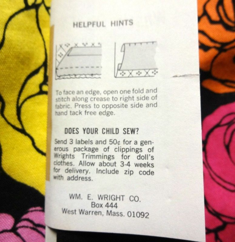 vintage hem facing label - csews.com