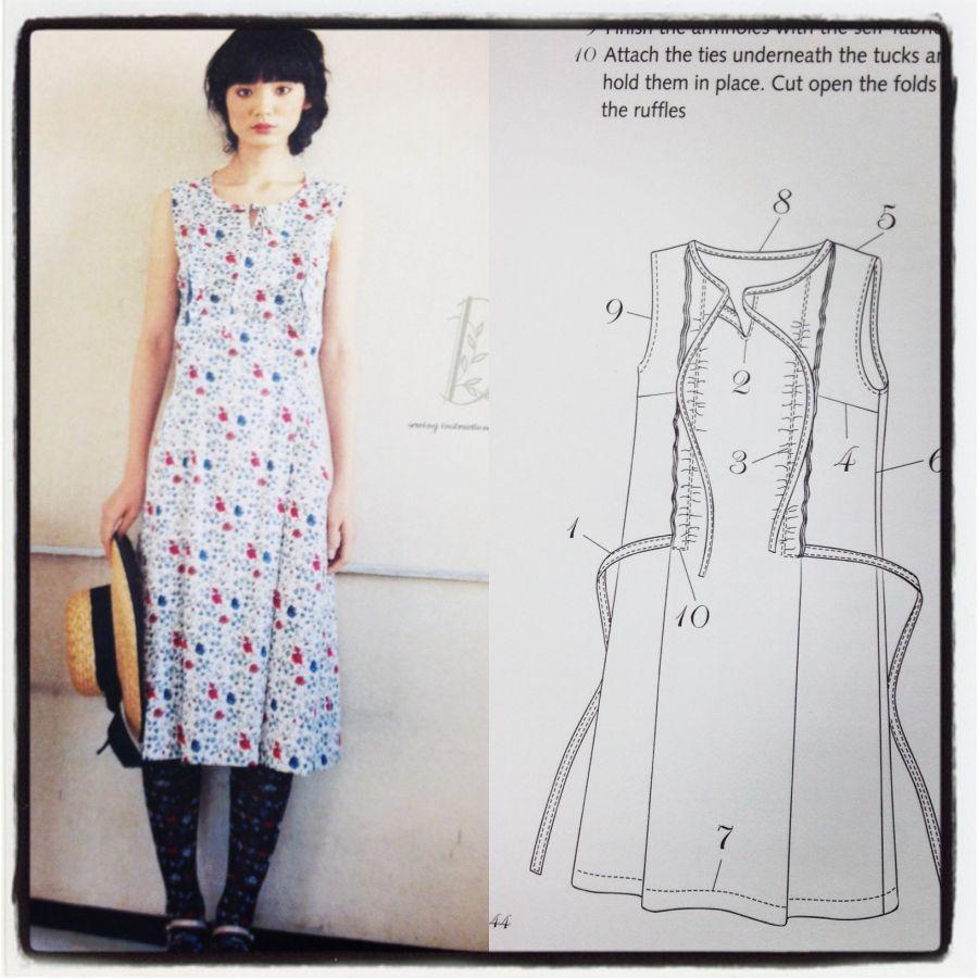 Stylish Dress Book - sleeveless dress with ruffles - csews.com