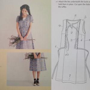 V-neck Dress - Stylish Dress Book - Yoshiko Tusukiori - csews.com