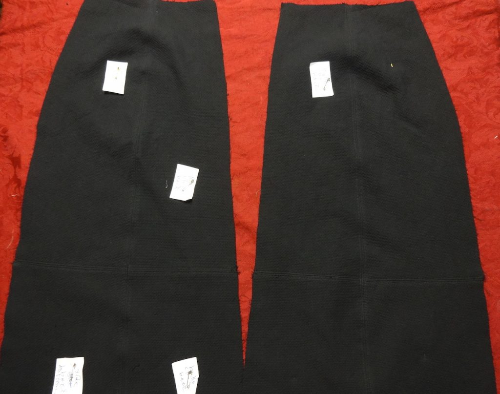Skirt panels - Basic Black by Sato Watanabe - csews.com
