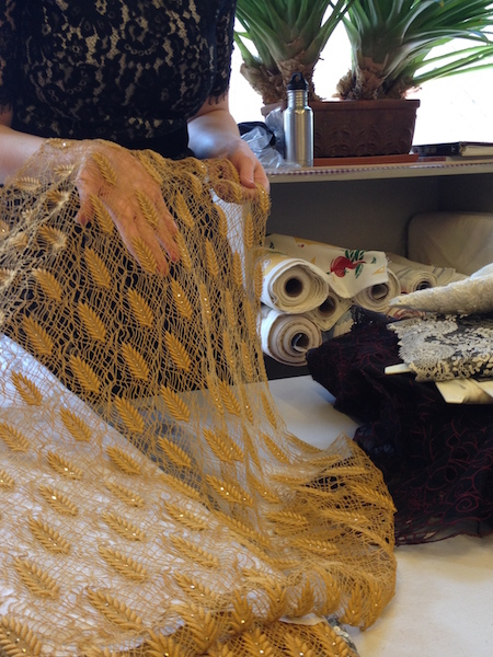 Ochre guipure lace - Britex Fabrics - csews.com