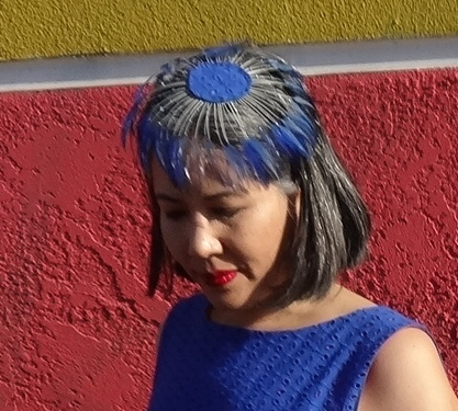 Feather fascinator - Spring for Cotton Dress accessory - csews.com