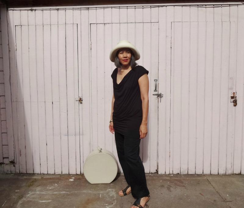 Draped mini - front - She Wears the Pants - white hat - csews.com
