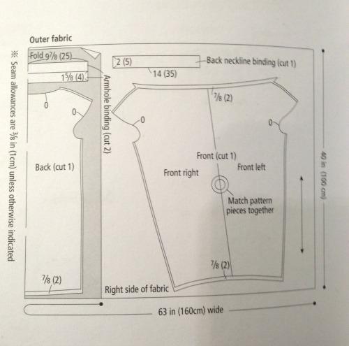 Draped mini dress - cutting layout - She Wears the Pants - csews.com