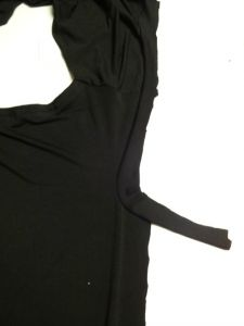 Sleeve binding - Draped Mini Dress - She Wears the Pants - csews.com