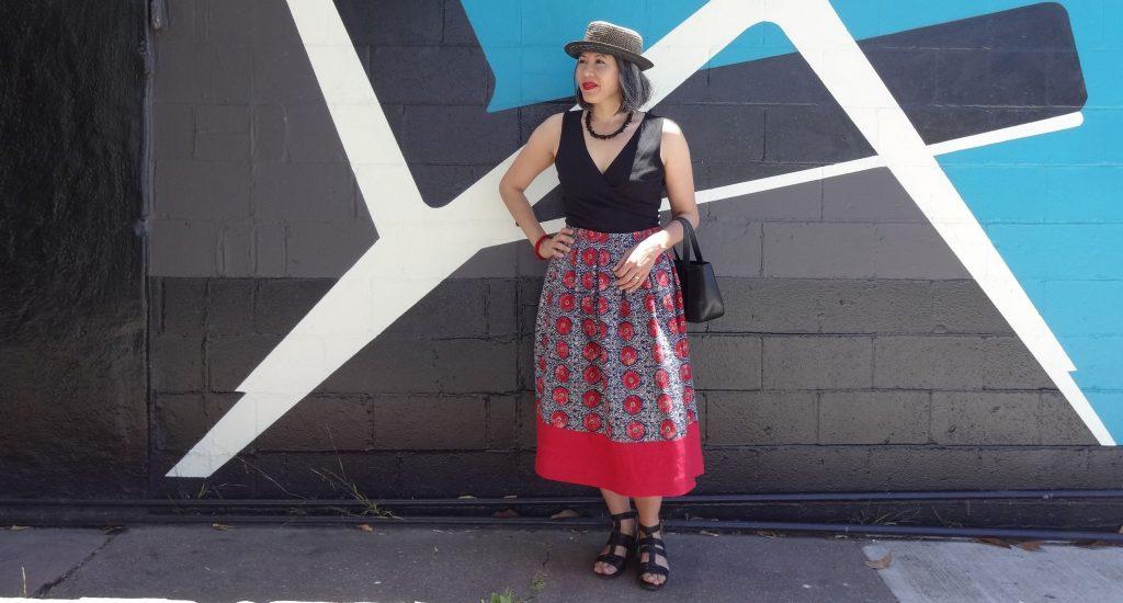 My linen Deer and Doe Chardon skirt