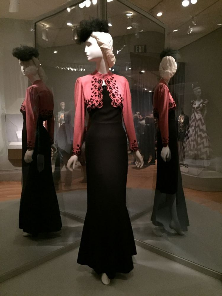 Elsa Schiaparelli evening gown - Brooklyn Museum Costume Collection - csews.com