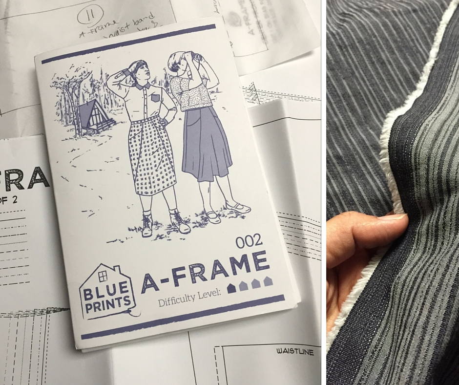 Sewing Indie Month - Blueprints for Sewing - A-Frame Skirt sewing pattern - csews.com