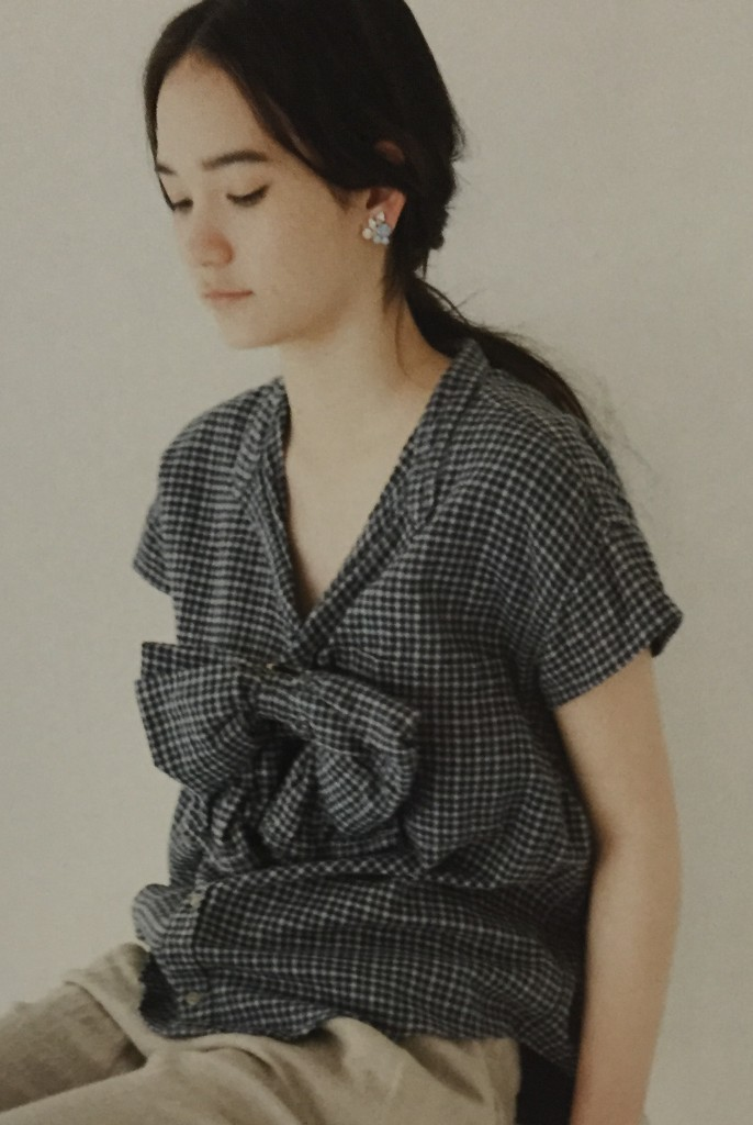 Stylish Remakes-plaid blouse with bow - csews.com