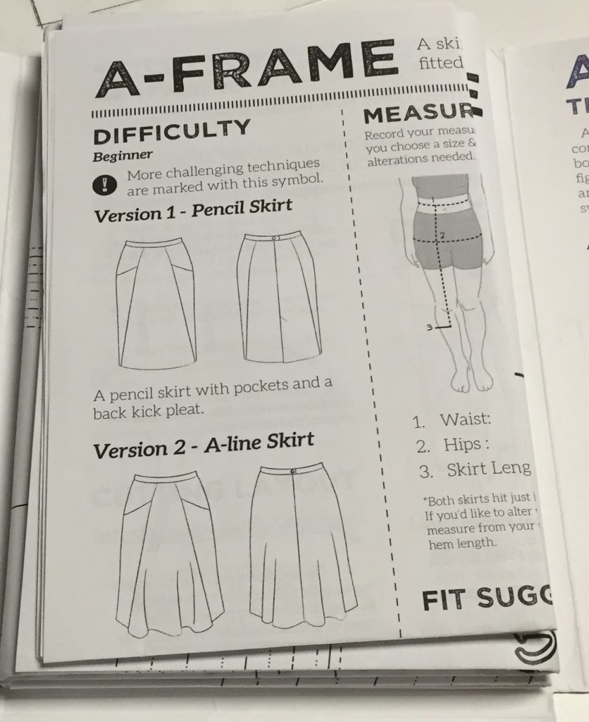 A-frame skirt - Blueprints for Sewing line drawing - csews.com