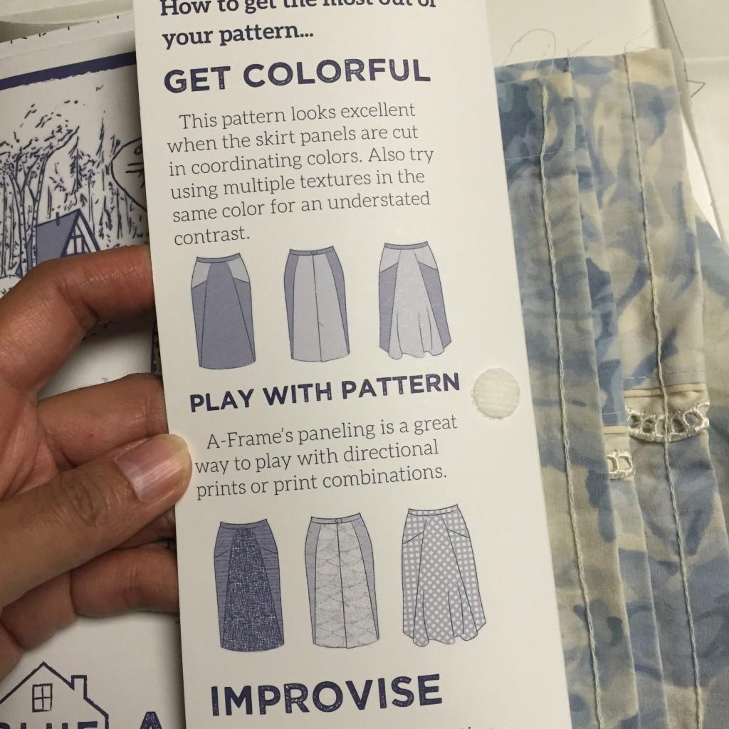 A-frame skirt - Blueprints for Sewing - csews.com